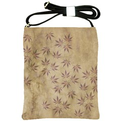 Parchment Paper Old Leaves Leaf Shoulder Sling Bags by Nexatart