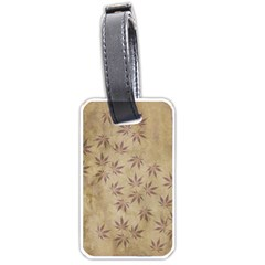 Parchment Paper Old Leaves Leaf Luggage Tags (two Sides) by Nexatart