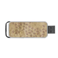 Parchment Paper Old Leaves Leaf Portable Usb Flash (two Sides) by Nexatart