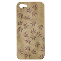Parchment Paper Old Leaves Leaf Apple Iphone 5 Hardshell Case