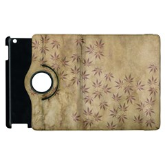 Parchment Paper Old Leaves Leaf Apple Ipad 3/4 Flip 360 Case by Nexatart