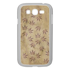 Parchment Paper Old Leaves Leaf Samsung Galaxy Grand Duos I9082 Case (white) by Nexatart