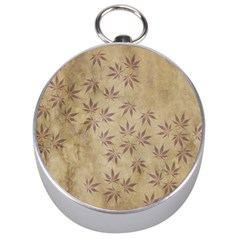 Parchment Paper Old Leaves Leaf Silver Compasses by Nexatart