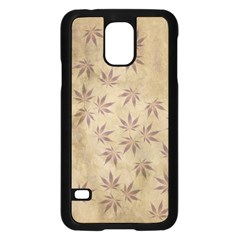 Parchment Paper Old Leaves Leaf Samsung Galaxy S5 Case (black) by Nexatart