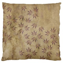 Parchment Paper Old Leaves Leaf Large Flano Cushion Case (two Sides) by Nexatart