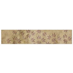Parchment Paper Old Leaves Leaf Flano Scarf (small) by Nexatart