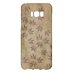 Parchment Paper Old Leaves Leaf Samsung Galaxy S8 Plus Hardshell Case  by Nexatart