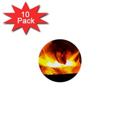 Fire Rays Mystical Burn Atmosphere 1  Mini Magnet (10 Pack)  by Nexatart