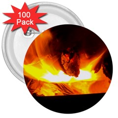 Fire Rays Mystical Burn Atmosphere 3  Buttons (100 Pack)  by Nexatart