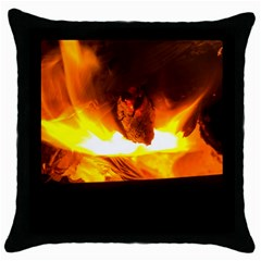 Fire Rays Mystical Burn Atmosphere Throw Pillow Case (black) by Nexatart