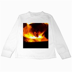 Fire Rays Mystical Burn Atmosphere Kids Long Sleeve T Shirts by Nexatart