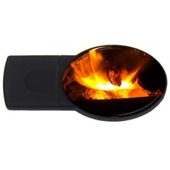 Fire Rays Mystical Burn Atmosphere Usb Flash Drive Oval (4 Gb) by Nexatart