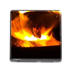 Fire Rays Mystical Burn Atmosphere Memory Card Reader (square)