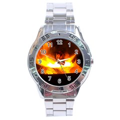 Fire Rays Mystical Burn Atmosphere Stainless Steel Analogue Watch