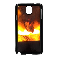 Fire Rays Mystical Burn Atmosphere Samsung Galaxy Note 3 Neo Hardshell Case (black) by Nexatart