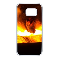 Fire Rays Mystical Burn Atmosphere Samsung Galaxy S7 White Seamless Case