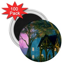 Background Forest Trees Nature 2 25  Magnets (100 Pack)  by Nexatart