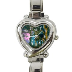 Background Forest Trees Nature Heart Italian Charm Watch by Nexatart