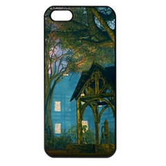 Background Forest Trees Nature Apple Iphone 5 Seamless Case (black)