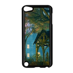 Background Forest Trees Nature Apple Ipod Touch 5 Case (black)