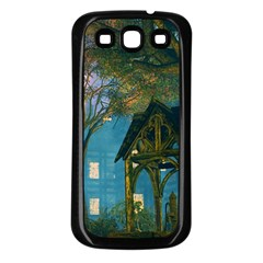 Background Forest Trees Nature Samsung Galaxy S3 Back Case (black) by Nexatart