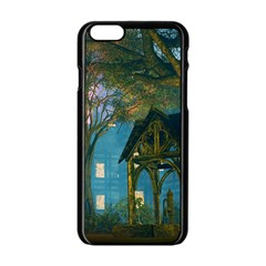 Background Forest Trees Nature Apple Iphone 6/6s Black Enamel Case by Nexatart