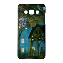 Background Forest Trees Nature Samsung Galaxy A5 Hardshell Case  by Nexatart