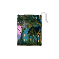 Background Forest Trees Nature Drawstring Pouches (xs)  by Nexatart
