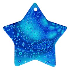 Bokeh Background Light Reflections Ornament (star) by Nexatart
