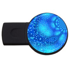Bokeh Background Light Reflections Usb Flash Drive Round (2 Gb)