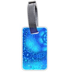 Bokeh Background Light Reflections Luggage Tags (two Sides) by Nexatart