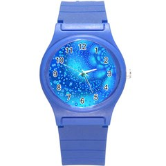 Bokeh Background Light Reflections Round Plastic Sport Watch (s) by Nexatart