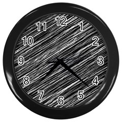 Background Structure Pattern Wall Clocks (black) by Nexatart