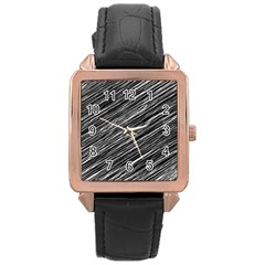 Background Structure Pattern Rose Gold Leather Watch