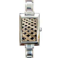 Texture Wood Flooring Brown Macro Rectangle Italian Charm Watch by Nexatart
