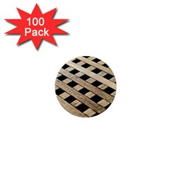Texture Wood Flooring Brown Macro 1  Mini Magnets (100 Pack)  by Nexatart
