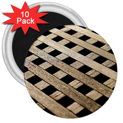 Texture Wood Flooring Brown Macro 3  Magnets (10 Pack)