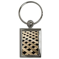 Texture Wood Flooring Brown Macro Key Chains (rectangle)  by Nexatart