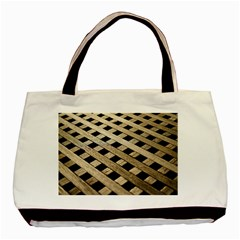 Texture Wood Flooring Brown Macro Basic Tote Bag (two Sides)