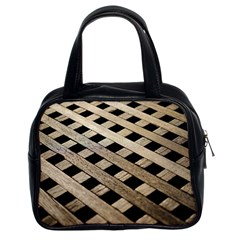 Texture Wood Flooring Brown Macro Classic Handbags (2 Sides) by Nexatart
