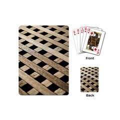 Texture Wood Flooring Brown Macro Playing Cards (mini)  by Nexatart