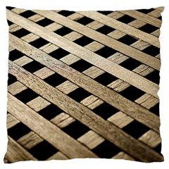 Texture Wood Flooring Brown Macro Large Cushion Case (two Sides) by Nexatart