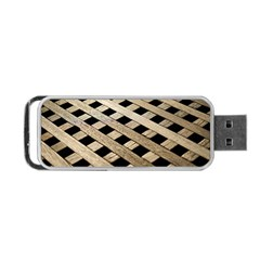 Texture Wood Flooring Brown Macro Portable Usb Flash (one Side) by Nexatart