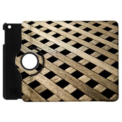 Texture Wood Flooring Brown Macro Apple Ipad Mini Flip 360 Case by Nexatart