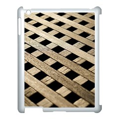 Texture Wood Flooring Brown Macro Apple Ipad 3/4 Case (white) by Nexatart
