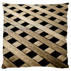 Texture Wood Flooring Brown Macro Large Flano Cushion Case (one Side) by Nexatart