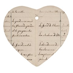 German French Lecture Writing Ornament (heart) by Nexatart