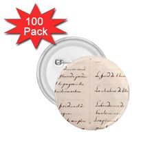 German French Lecture Writing 1 75  Buttons (100 Pack)