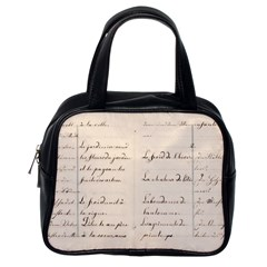 German French Lecture Writing Classic Handbags (one Side) by Nexatart