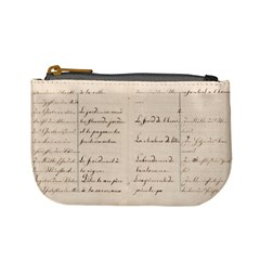 German French Lecture Writing Mini Coin Purses
